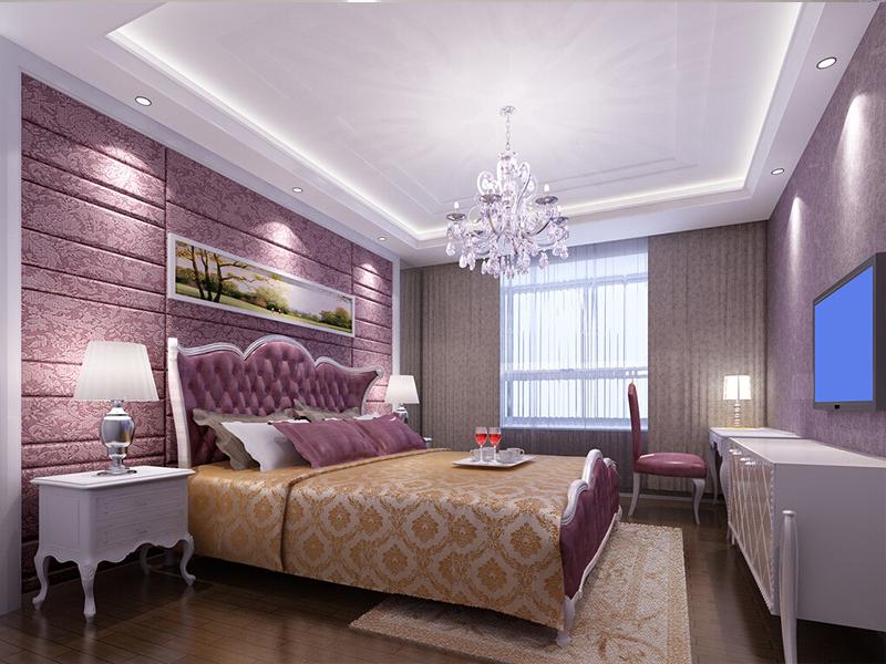 Натяжной потолок в спальне с подсветкой