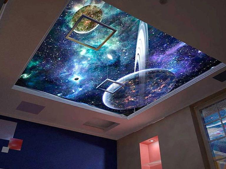 Потолок небо со звёздами