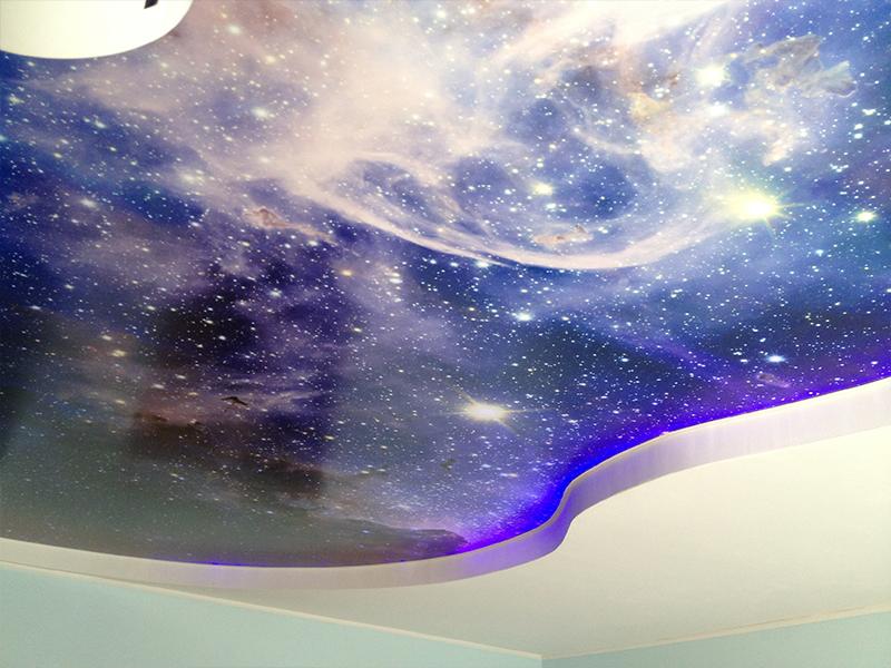 Потолок небо со звездами